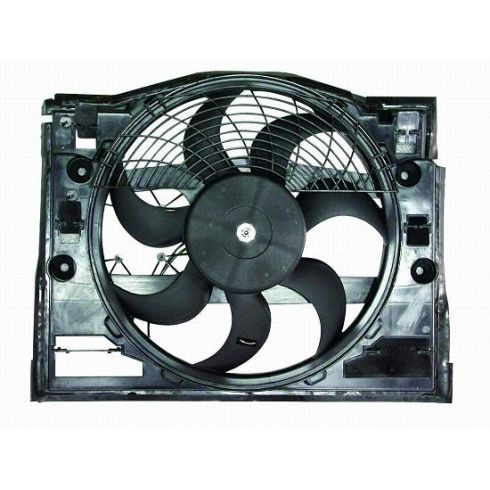 1999-06 BMW 3 Series Condenser Fan & Motor Assy (Pusher - 7 Fan Blades)