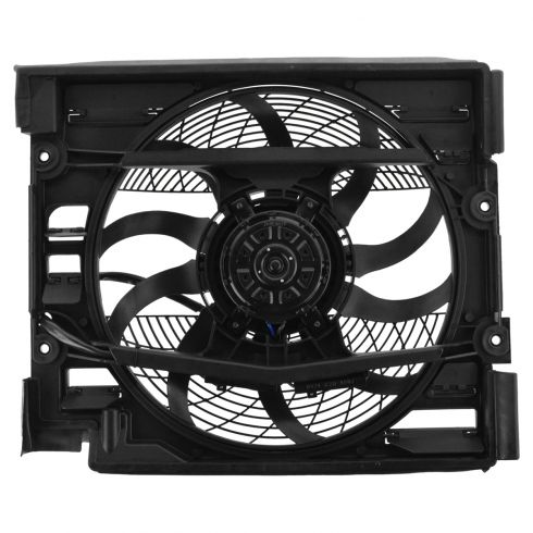 97-98 BMW 528i, 540i A/C Condenser/Auxiliary Cooling Fan Assy