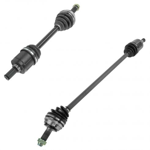 90 Honda Accord; 91-93 Accord (exc ABS) Front Outer CV Axle Shaft PAIR