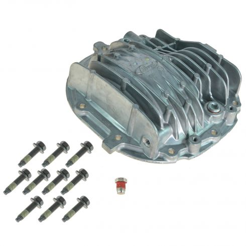85-14 Mustang (w/8.8 Inch RG); 03-06 Cr Vic, Nav, Exp Alum Rear Axle Cvr, Vent, & Bolt Kit (FORD)