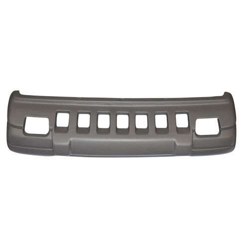 96-98 Jeep Grand Cherokee (w/Fog Lights) Gray Textured Front Bumper Cover