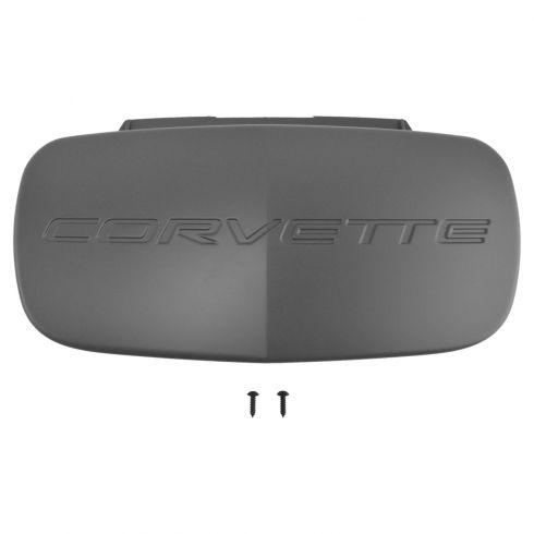97-04 Chevy Corvette Front Bumper Mounted Textured Black Fascia License Plate Cover (GM)