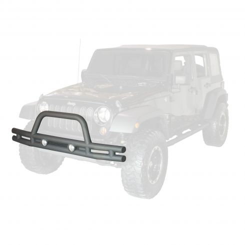 3-Inch Double Tube Front Bumper, 07-14 Jeep Wrangler