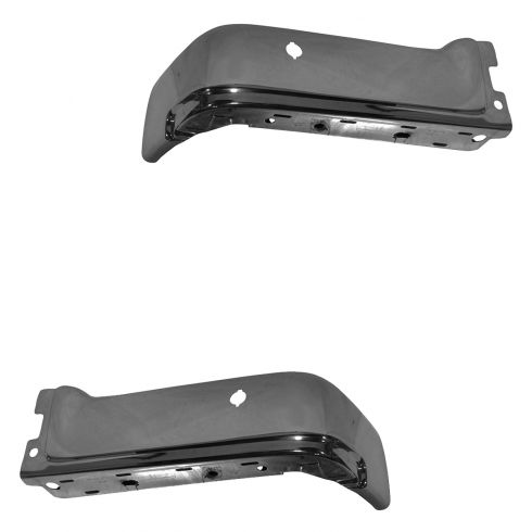 09-14 Ford F150 (w/Proximity Sensor Holes) Chrome Rear Bumper End PAIR (Ford)