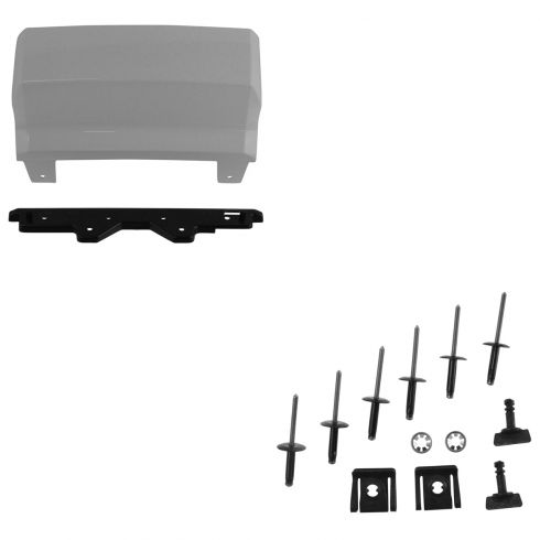 15-16 Subrban, Tahoe, Yukon, XL Rear Bmpr Mtd (Summit White) Trailer Hitch Cover w/Install Kit (GM)