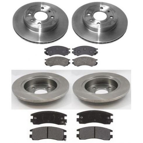 1991-98 Saturn S Series Front & Rear Brake Rotors & Pad SET