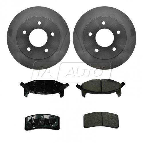 Brake Rotor REAR KIT with (Ceramic Enhanced) Pads