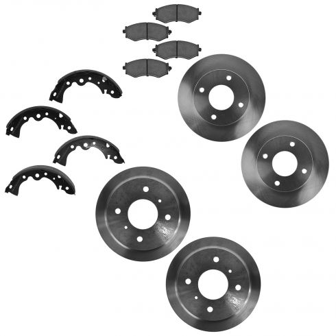 00-06 Nissan Sentra Front Rotor / Pads & Rear Drum / Shoe Kit