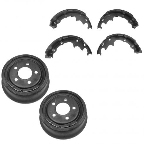 Rear Brake Drum & Riveted Shoe Set (AUTO EXTRA AX800028 & AXS538R)