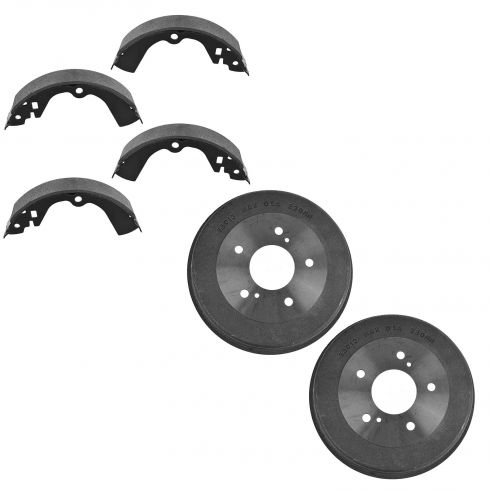 Rear Brake Shoe Set & Drum Set  AXS575, AX35013