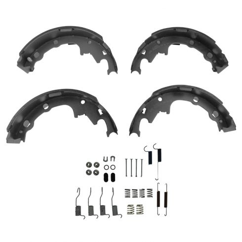 Brake Shoe Set with Hardware Kit