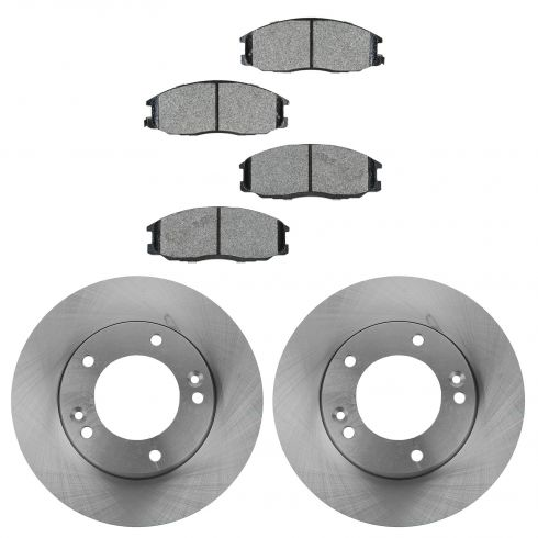 07-09 Kia Sorento Front Disc Brake Rotor & METALLIC Brake Pad Kit