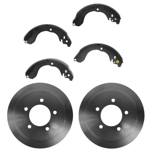 Rear Brake Drum & Shoe Set for Chrysler Dodge Jeep Nissan
