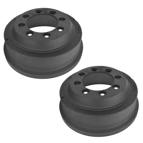 87-91 Ford E250, E350 SRW; 85-99 F250; 84-97 F350 SRW (12 x 3 Inch) Rear Brake Drum Pair