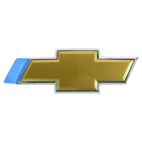 07-14 Chevy Suburban, Tahoe Tailgate Mounted Gold ~Bowtie~ Logoed Adhesive Emblem (GM)