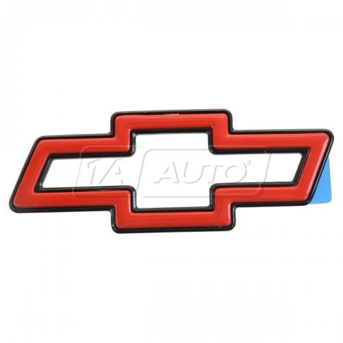 95-03 Chevy Cavalier Trunk Mtd; 94-96 Impala SS Grille Mtd Upgrade Red ~Bowtie~ Adhesive Emblem (GM)