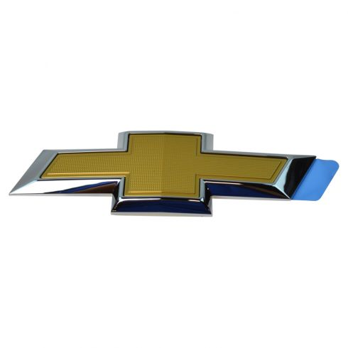14-15 Chevy Camaro Trunk Lid Mounted Gold & Chrome ~Bowtie~ Logoed Adhesive Emblem (GM)