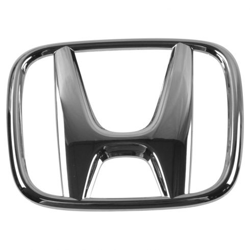 06-08 Honda Civic Coupe; 05-10 Odyssey Grille Mounted Chrome ~H~ Adhesive Nameplate Emblem (Honda)