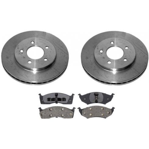 1996-00 Caravan Voyager Town & Country Brake Pad & Rotor Kit Front