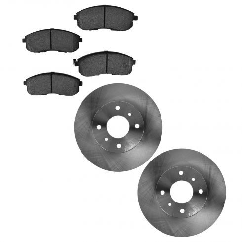 1993-01 Nissan Altima Sentra Brake Pad & Rotor Kit Front for cars With 4 Wheel Studs