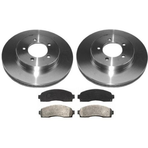 2002-05 Explorer Mountaineer Brake Pad & Rotor Kit Front