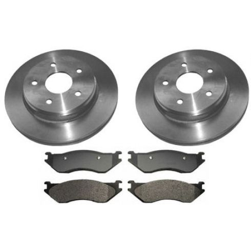 2002-05 Dodge Ram 1500 Durango Brake Pad & Rotor Kit Front