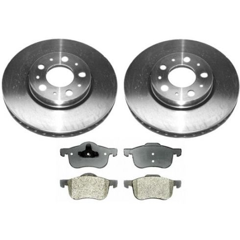 1999-05 Volvo S60 S80 V70 Brake Pad & Rotor Kit Front for 15 Inch Wheel