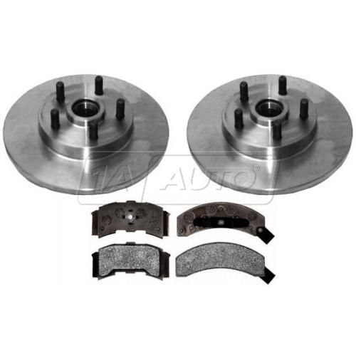 1984-87 Pontiac Fiero Brake Pad & Rotor Kit Front