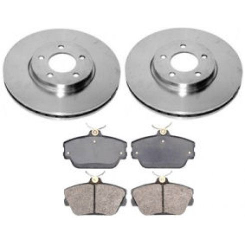 1997-02 Taurus Sable Thunderbird Brake Pad & Rotor Kit Front