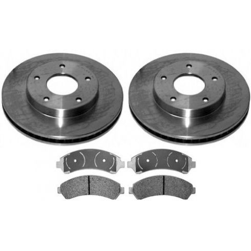 1998-05 S10 Sonoma Blazer Jimmy Bravada Hombre Brake Pad & Rotor Kit Front for 4x4 Models