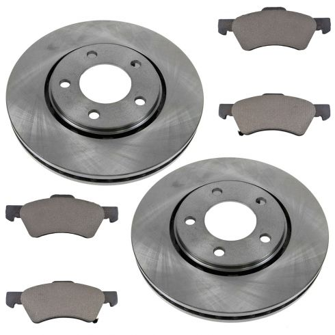 2001-07 Town & Country Grand Caravan Brake Pad & Rotor Kit Front for Vans With 4 Wheel Disc Brakes