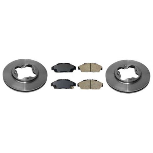 1990-97 Honda Accord Acura CL Brake Pad & Rotor Kit Front