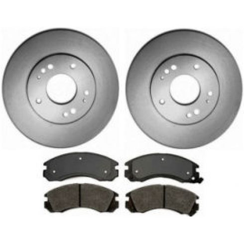 1991-00 Stealth 3000GT Diamante Eclipse Galant Talon Brake Pad & Rotor Kit Front