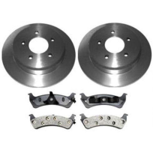 1995-01 Ford Explorer Mercury Mountaineer Brake Pad & Rotor Kit Rear