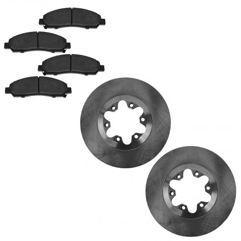 04-08 Canyon, Colorado; 06 Isuzu I-280, I-350; 07 I-290, I-370 Front Brake Pad & Rotor Set