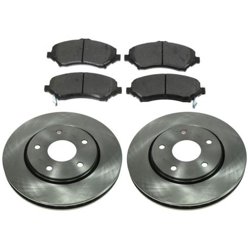 FRONT Semi-Metallic Disc Brake Pad & Rotor Kit (AX900524 & AXMD1327)