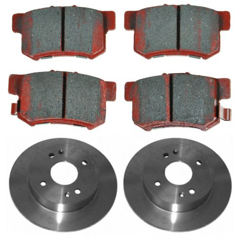 98-02 Honda Accord 2.3L; 98-99 Acura CL Rear Ceramic Pads & Rotor Set