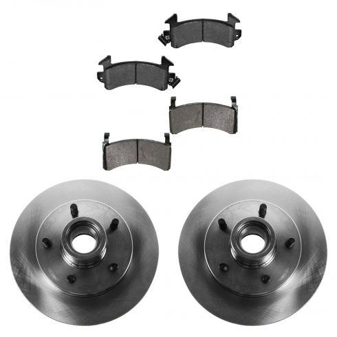 Front Disc Brake Hub & Rotor & Pad Set AXMD154, AX31254