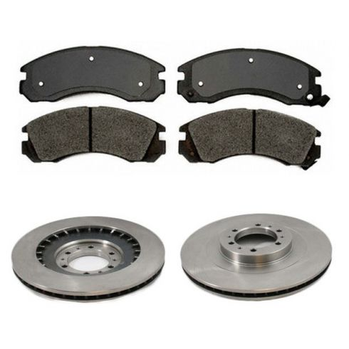 Front Disc Brake Rotor & Pad Set  AX31291, AXMD530