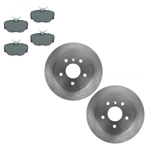Rear Disc Brake Rotor & Pad Set AX34146,  AXMD493