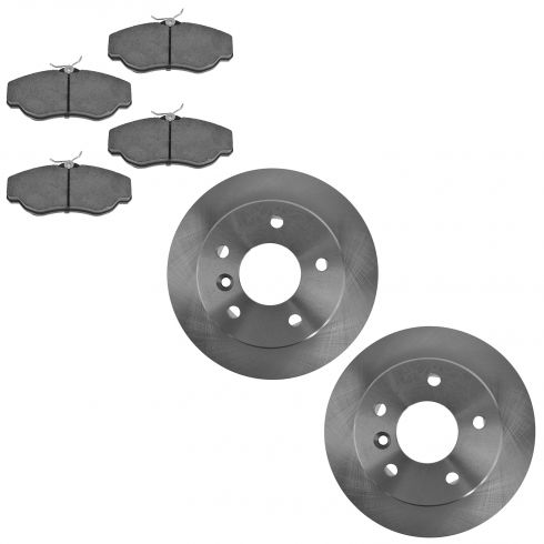 Front Disc Brake Rotor  & Pad Set AX34253, AXCD676