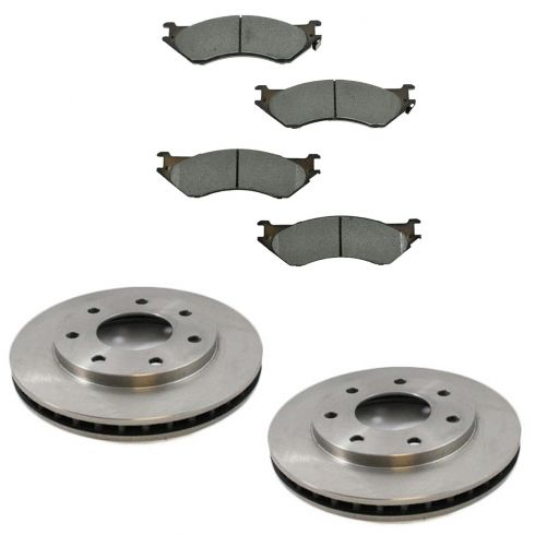 Front Disc Brake Rotor & Pad Set AX54048, AXMD702