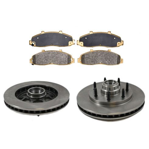 Front Disc Brake Rotor & Pad Set  AX54052, AXMD702