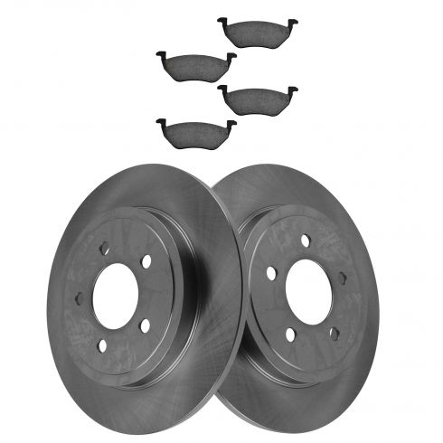 Rear Disc Brake Rotor & Pad Set AX54122, AXCD1055