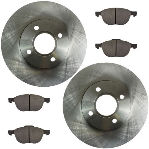Front Disc Brake Rotor & Pad Set  AX54132, AXMD1044