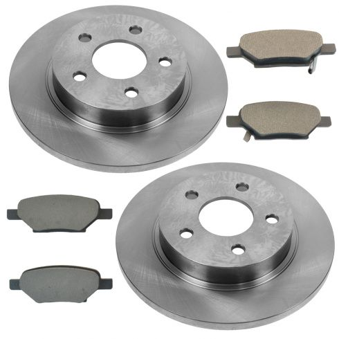 Rear Disc Brake Rotor & Pad Set AX55094, AXMD1033