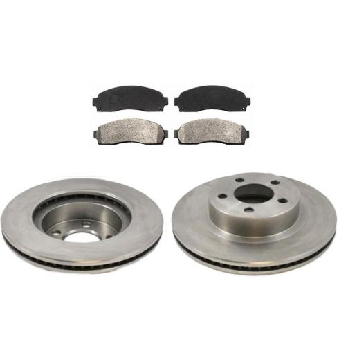 Front Disc Brake Rotor & Pad Set AX54097, AXMD833