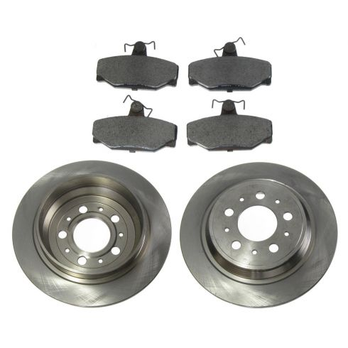 Disc Brake Rear Rotor & Pad Set AX34142, AXMD391