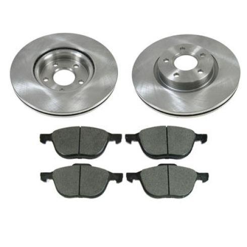 08-11 Volvo C30; 06-11 C70; 05-10 S40; 05-10 V50 Front Brake Rotor & Metallic Pad Set