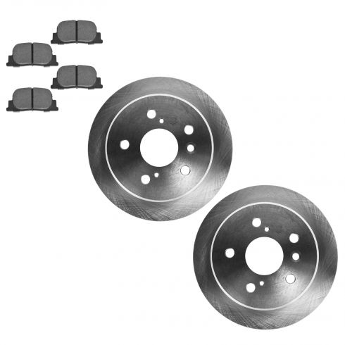 Rear Disc Brake Pads & Rotor Set AXMD835, AX31075